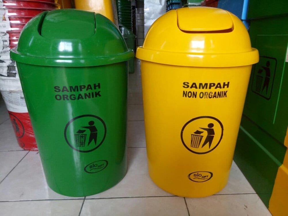 contoh tempat sampah organik dan anorganik