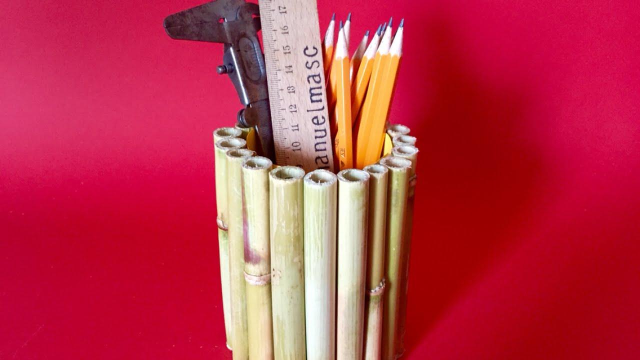 Kerajinan Dari Bambu Tempat Pensil