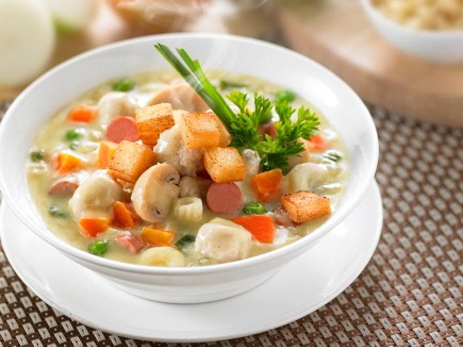 aneka masakan sup makaroni