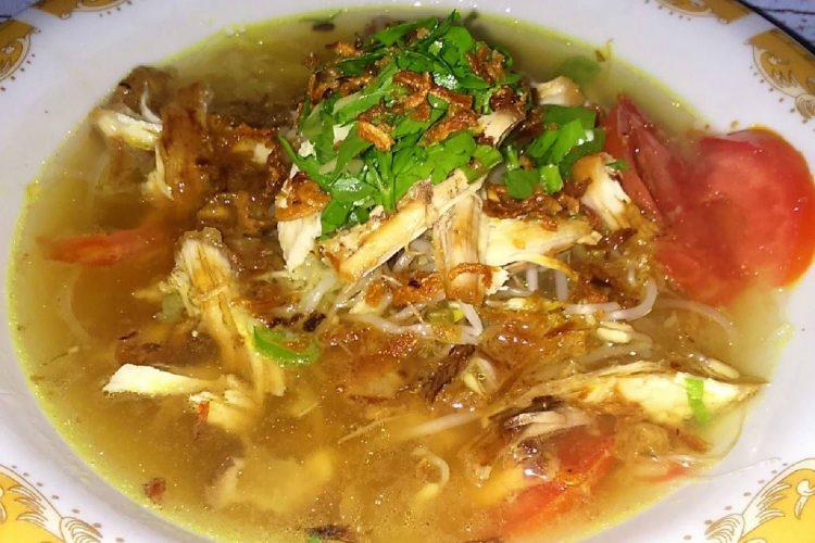 resep soto ayam kuning bening